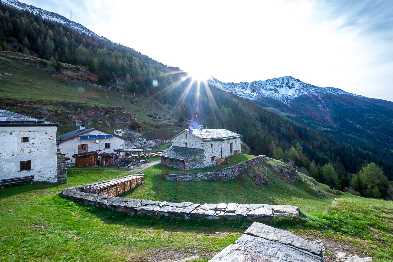Alpe San Romerio im Morgenglanz