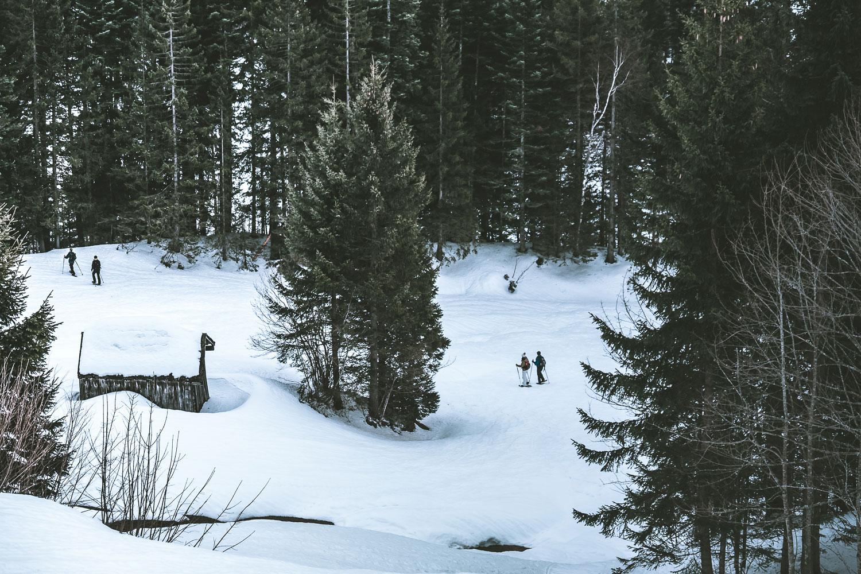 Auch andere lieben das Schneeschuhlaufen