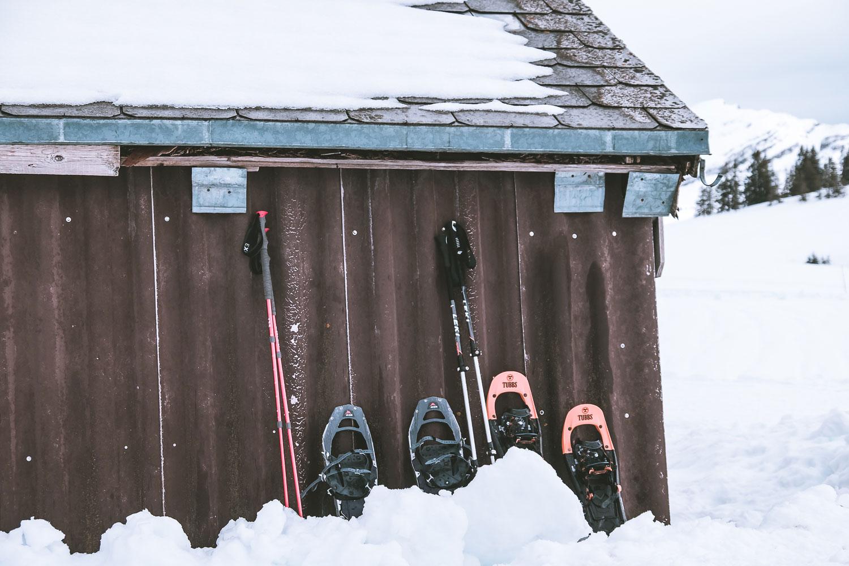 'Parkplatz' für unsere Schneeschuhe